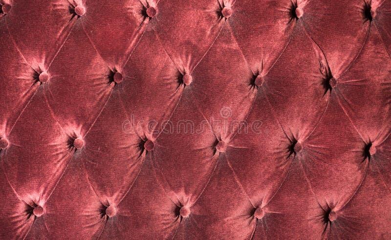 Luksusowy czerwony aksamit poduszki zakończenia tło zdjęcia stock