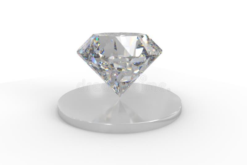 luksusowy diamentowy klejnot, 3d rendering obrazy stock
