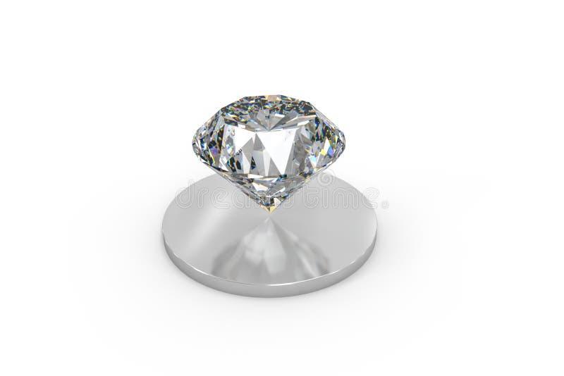 luksusowy diamentowy klejnot, 3d rendering fotografia stock