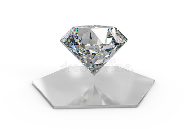 luksusowy diamentowy klejnot, 3d rendering zdjęcia stock