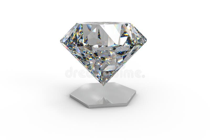 luksusowy diamentowy klejnot, 3d rendering obraz royalty free