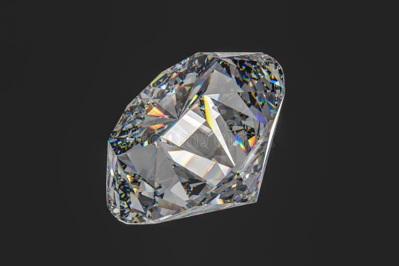 luksusowy diamentowy klejnot, 3d rendering obraz stock