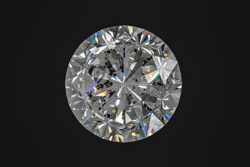 luksusowy diamentowy klejnot, 3d rendering fotografia royalty free