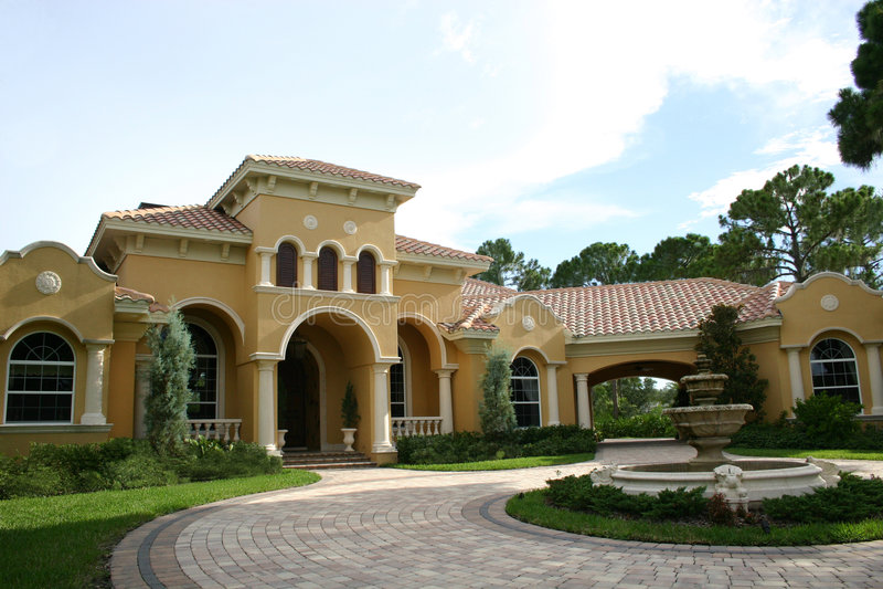 luksusowy dom zdjęcie royalty free