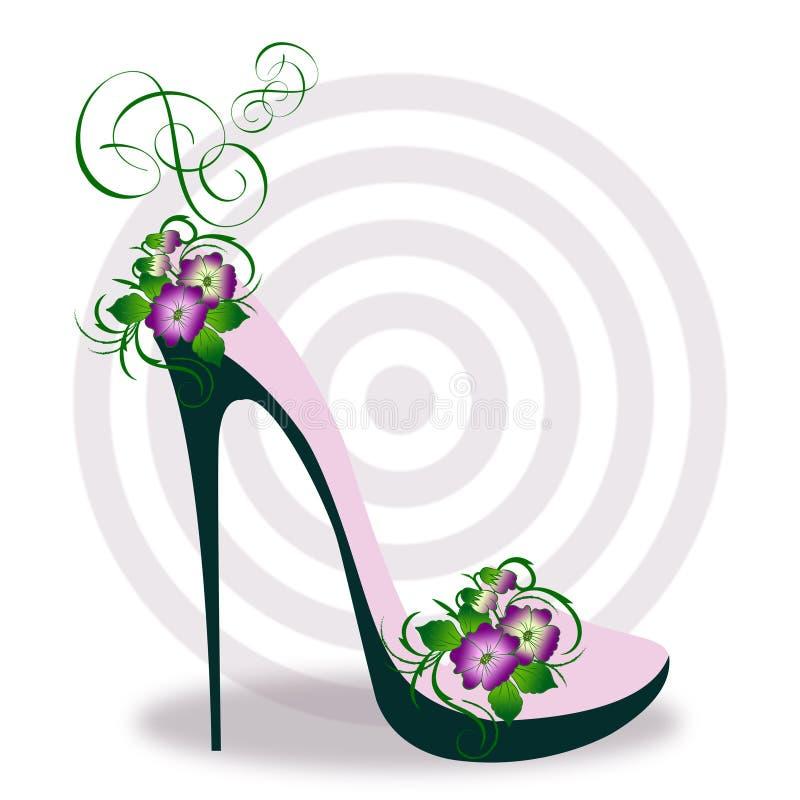 Luksusowy elegancki szpilki but royalty ilustracja