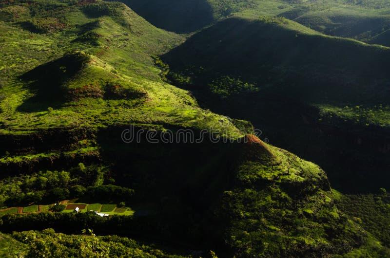 Luksusowy greenery Kauai wyspa obraz royalty free