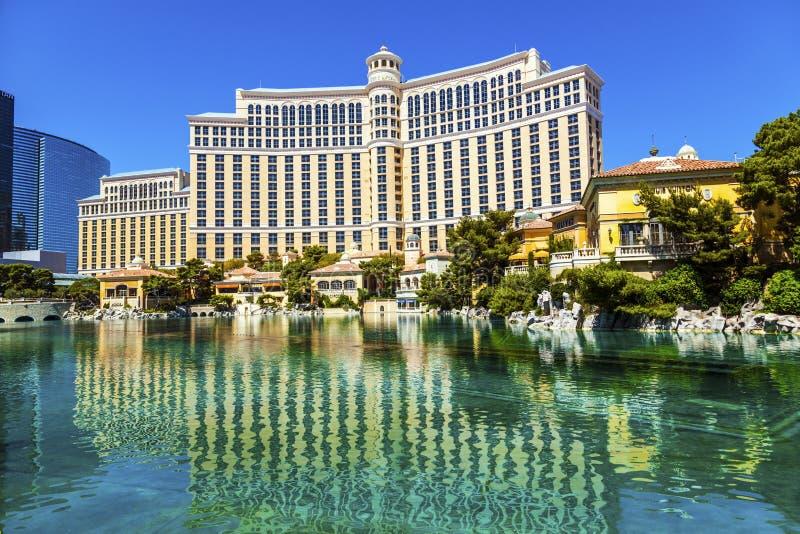 Luksusowy hotel Bellagio w Las Vegas zdjęcie stock