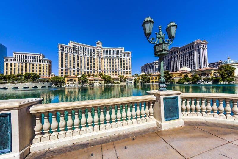 Luksusowy hotel Bellagio w Las Vegas obrazy royalty free
