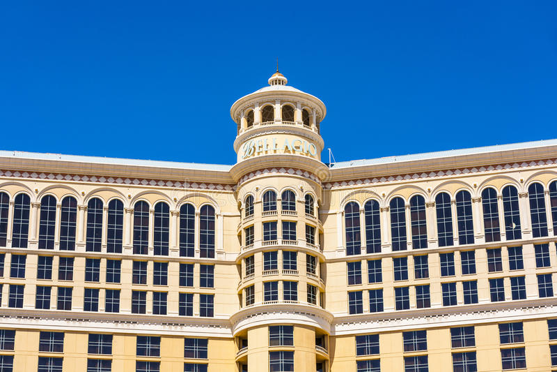 Luksusowy hotel Bellagio w Las Vegas fotografia stock
