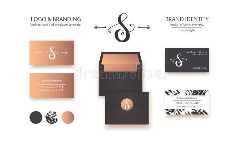 Luksusowy kaligraficzny listowego S monogram - wektorowy loga szablon Wyszukany gatunku projekt ilustracji
