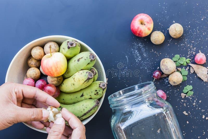 Luksusowy karmowy tło Karmowej fotografii różne owoc kopia obraz royalty free