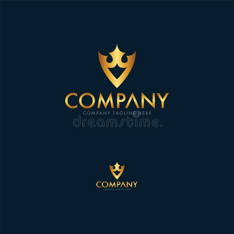 Luksusowy Królewski logo projekta szablon ilustracji