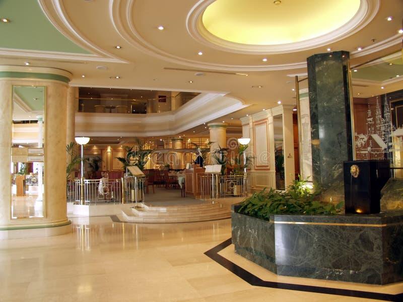 luksusowy lobby hotelu marmur zdjęcia stock