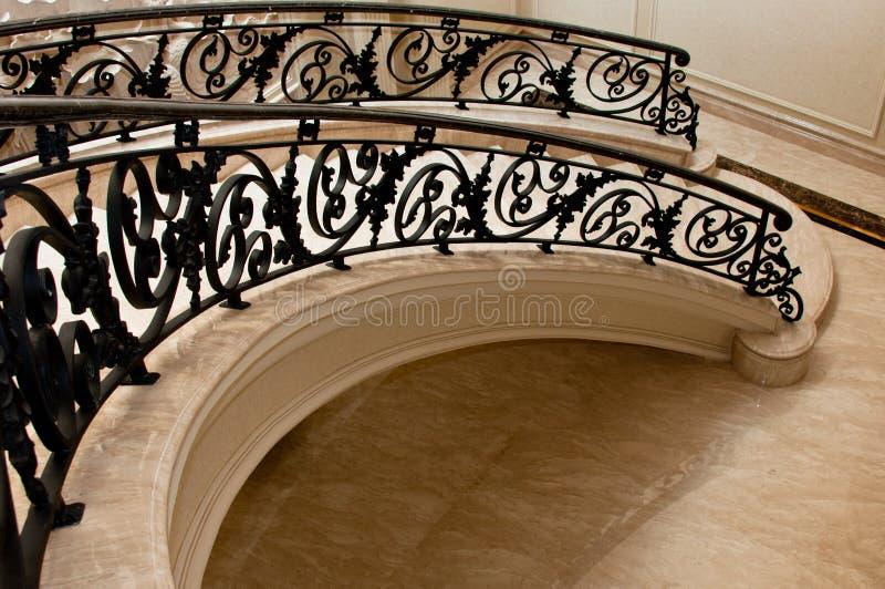 luksusowy marmurowy schody zdjęcie royalty free