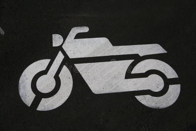 Luksusowy motocyklu miejsce parkingowe zdjęcia royalty free