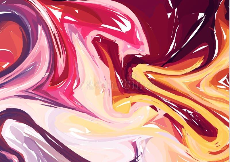 Luksusowy Multicolor Marmurowy tło z zawijasami Abstrakt kamień Deseniująca tekstura Modny szablon dla zaproszenia, przyjęcie, Po royalty ilustracja
