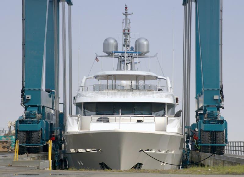 Luksusowy Nowy Jacht Obrazy Stock