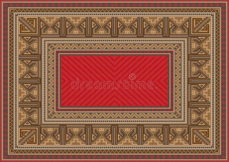 Luksusowy orientalny dywanik z oryginału wzorem royalty ilustracja