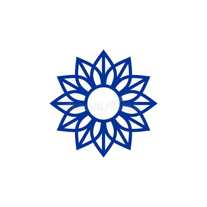 Luksusowy ornamentu logo szablon ilustracji