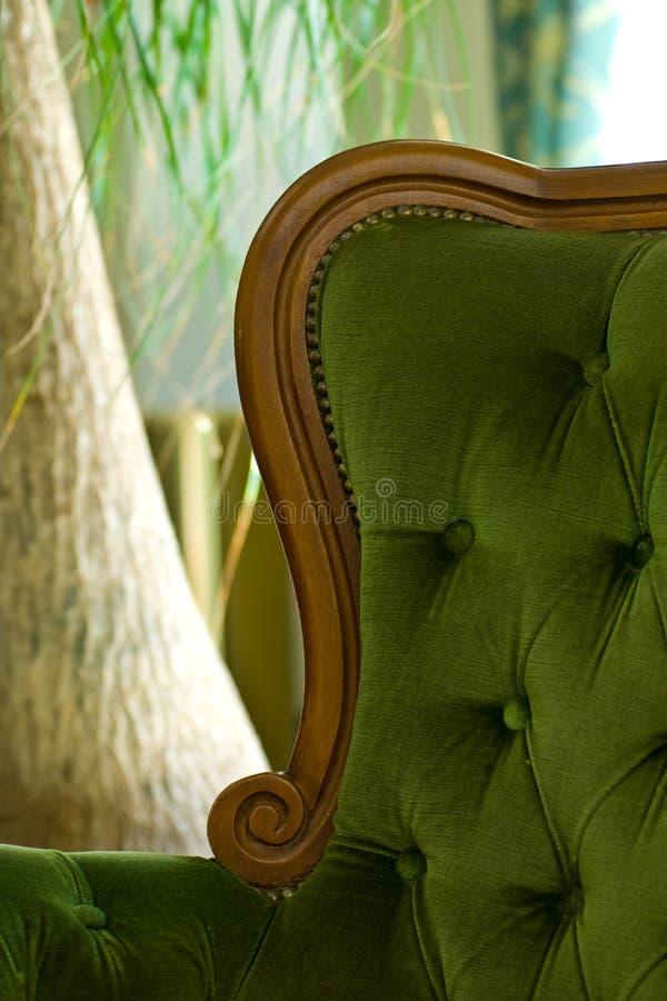 luksusowy pluszowego krzesło obraz stock