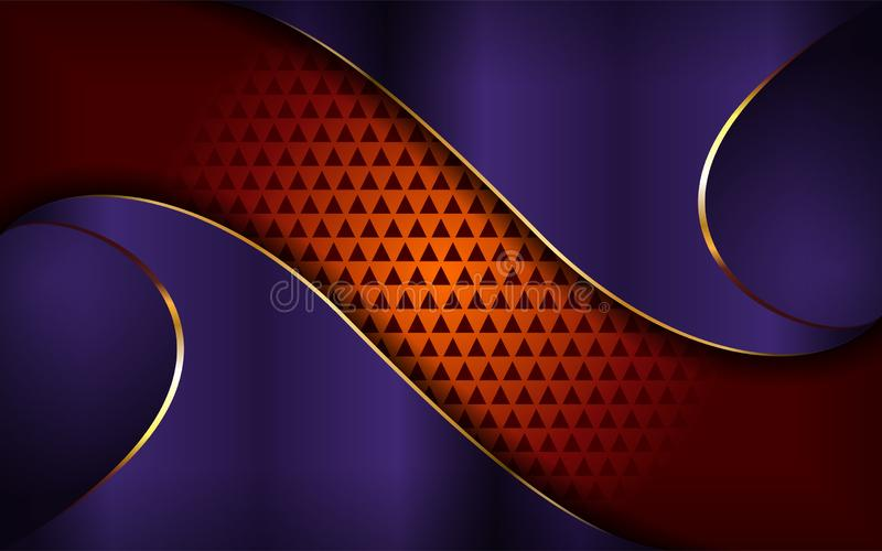 Luksusowy purpur i pomara?cze t?o ilustracja wektor