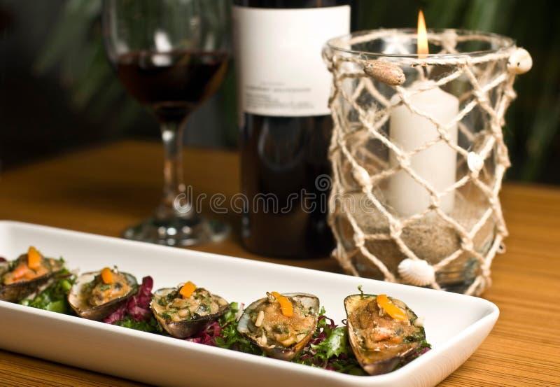 Luksusowy restauracyjny jedzenie obrazy stock