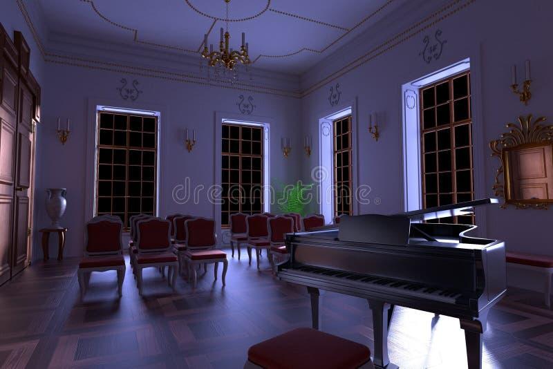 Luksusowy rezydenci ziemskiej wnętrze ilustracji