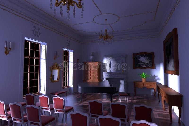 Luksusowy rezydenci ziemskiej wnętrze ilustracja wektor