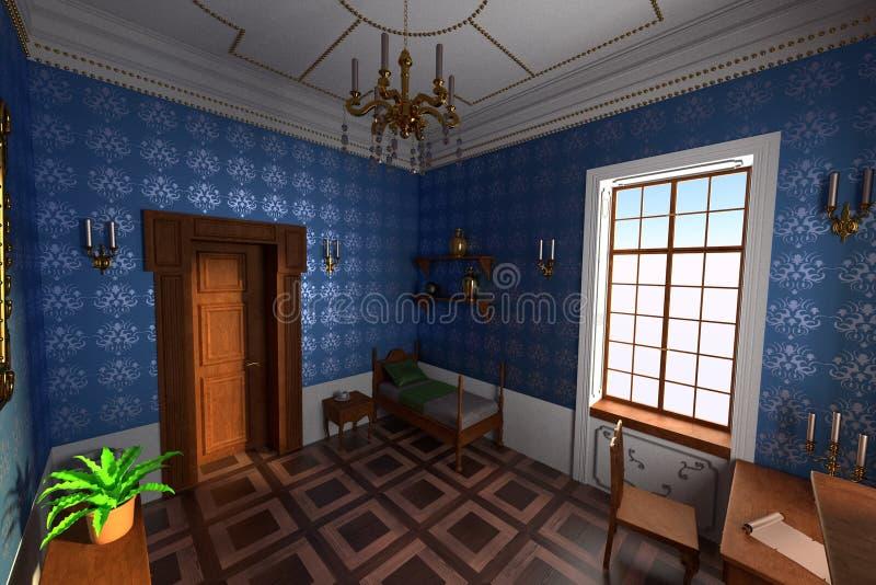 Luksusowy rezydenci ziemskiej wnętrze royalty ilustracja