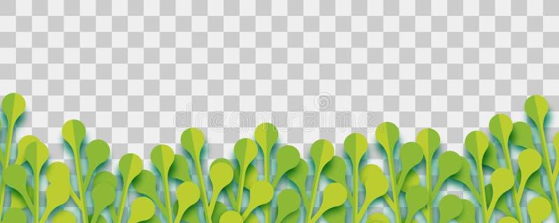 Luksusowy roślina papieru origami wektor royalty ilustracja