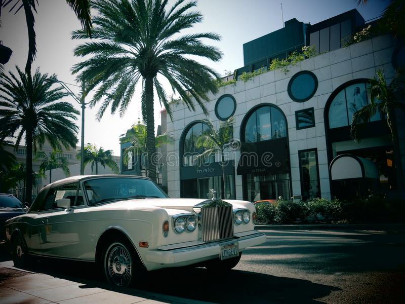 Luksusowy Rolls Royce samochód fotografia stock
