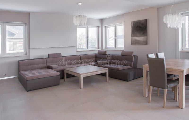 Luksusowy rzemienny kanapa set zdjęcie stock