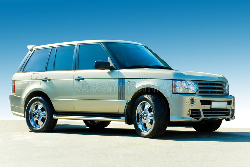 luksusowy samochód offroad obraz royalty free