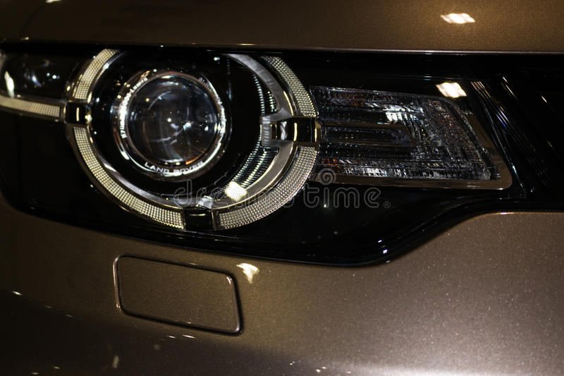Luksusowy samochodowy reflektoru szczegółu zakończenie fotografia royalty free