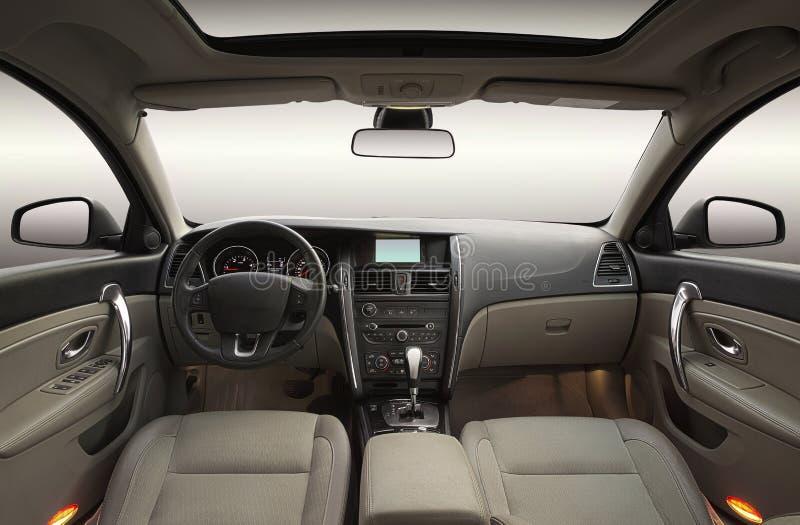 Luksusowy samochodowy wnętrze zdjęcie royalty free