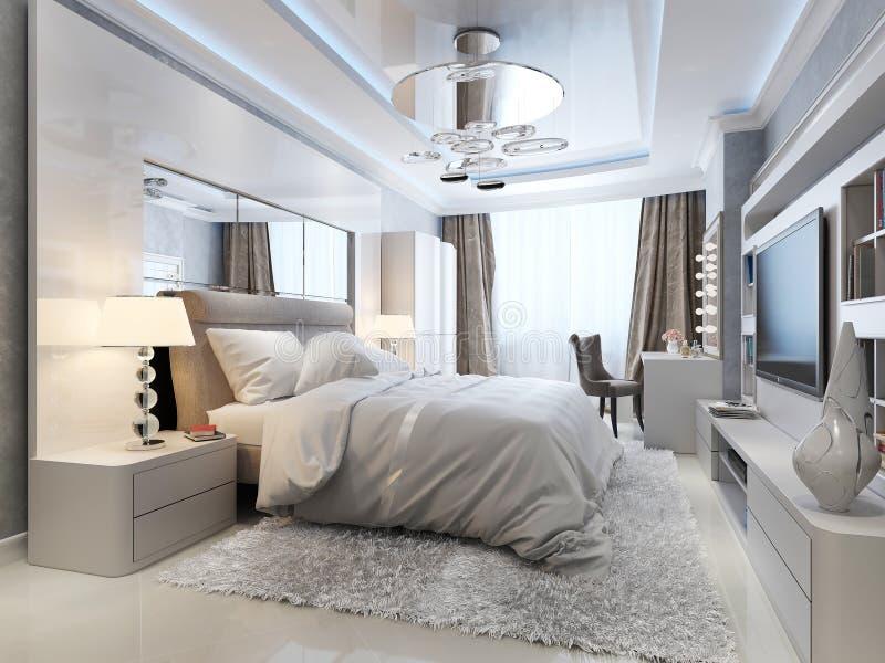 Luksusowy sypialni wnętrze ilustracji