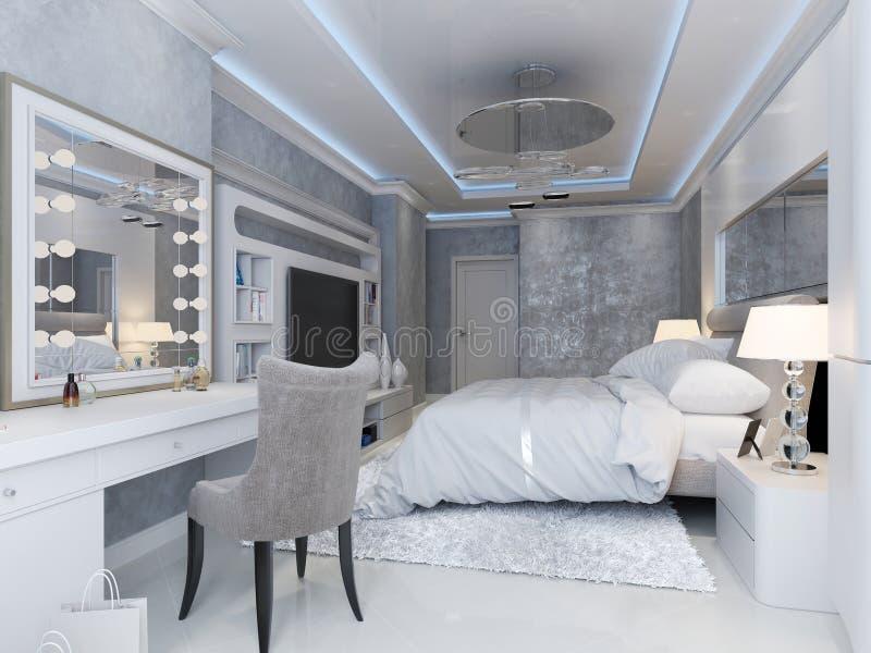 Luksusowy sypialni wnętrze ilustracja wektor