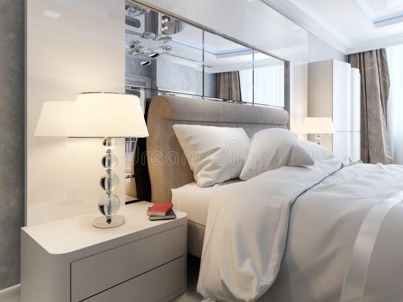 Luksusowy sypialni wnętrze royalty ilustracja