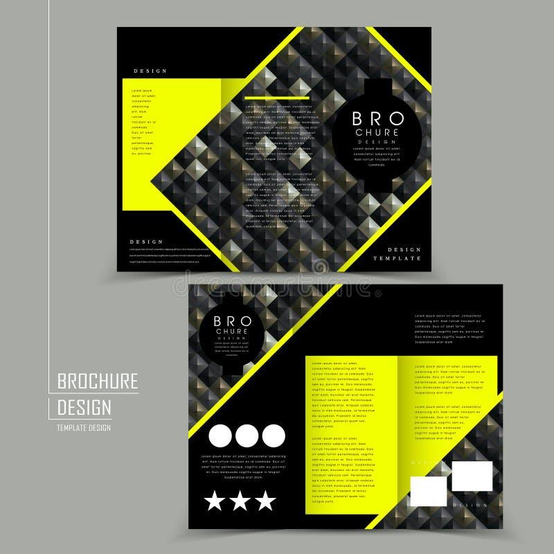 Luksusowy trifold broszurka szablonu projekt ilustracji