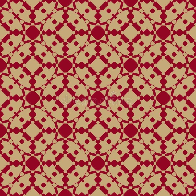 Luksusowy wektorowy ornamentacyjny bezszwowy wzór w azjata stylu Świąteczny geometryczny tło ilustracja wektor