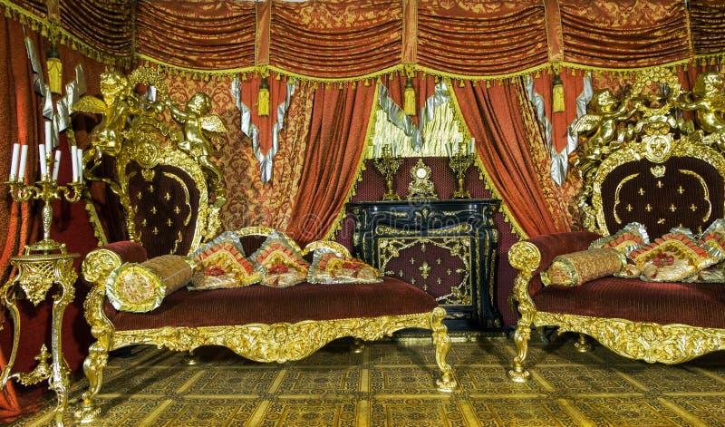 Luksusowy wewnętrzny Żywy pokój zdjęcie royalty free