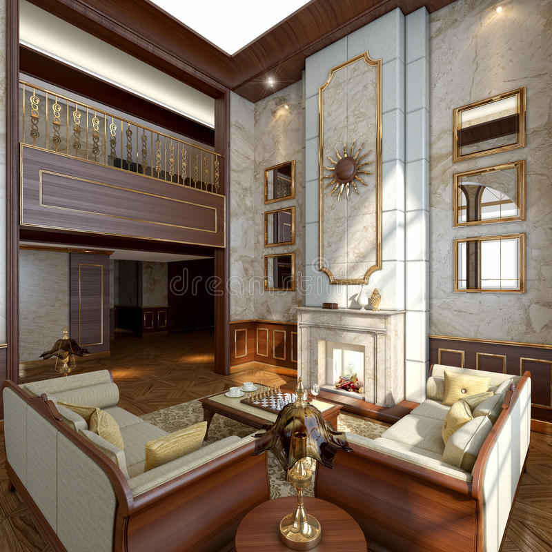 Luksusowy Wnętrze ilustracji