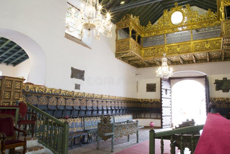 Luksusowy wnętrze dom wolność, Sucre, Boliwia obrazy stock