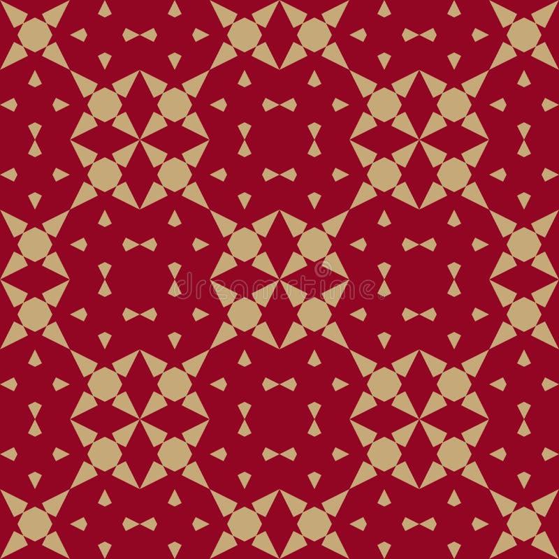 Luksusowy złota i czerwieni chińczyka tło Azjata Styl Projekt dla wystroju, tkanina ilustracji