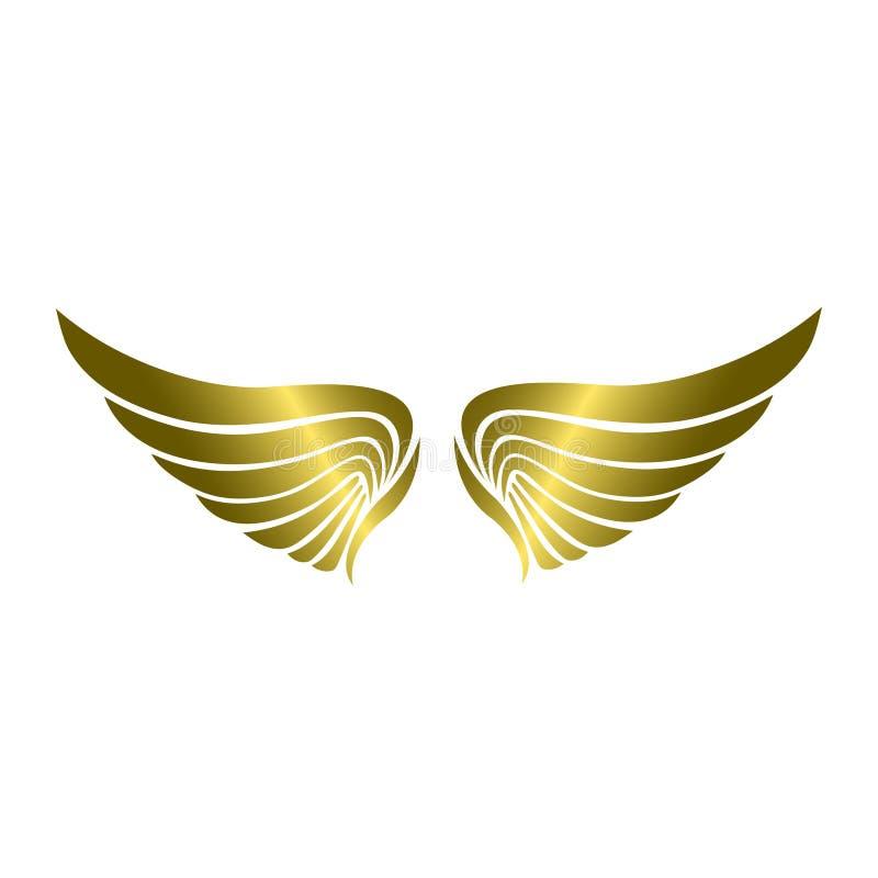 Luksusowy Złoty Skrzydłowy wektor ilustracja wektor
