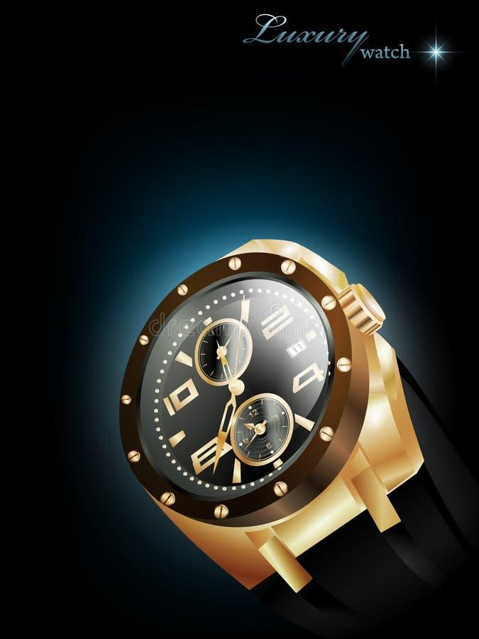 luksusowy zegarek ilustracja wektor