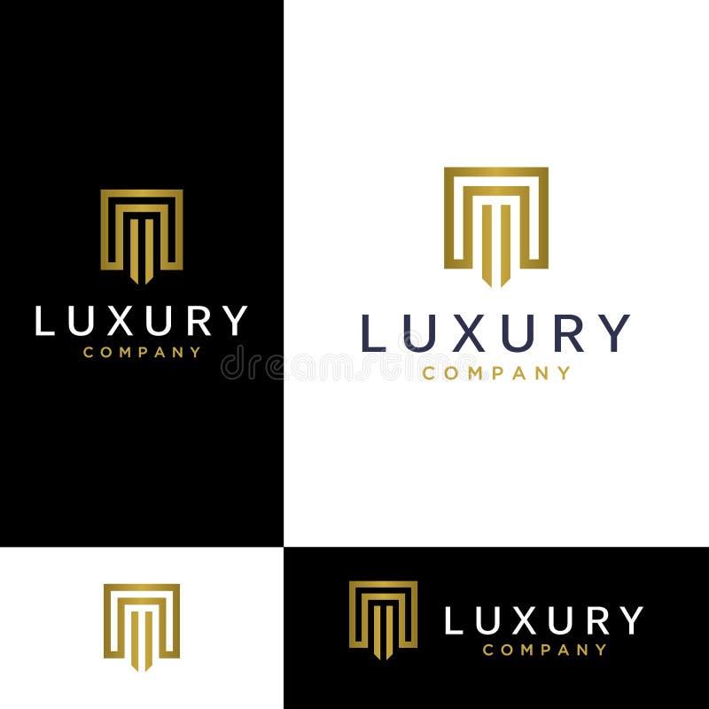 Luksusu loga Listowa inspiracja Luksusu listowy Ilustracyjny logo ilustracja wektor