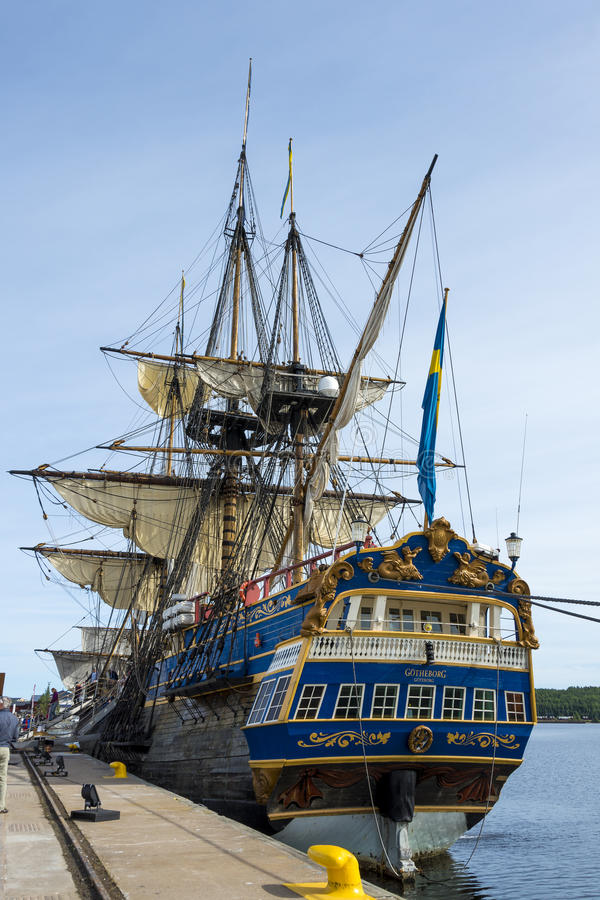 LULEA ШВЕЦИЯ – 23-ЬЕ АВГУСТА: Корабль Gotheborg шведского языка стоковое изображение rf