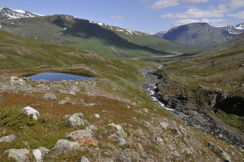 Lullihavaggein die Mitte Sarek des Nationalparks stockfotos
