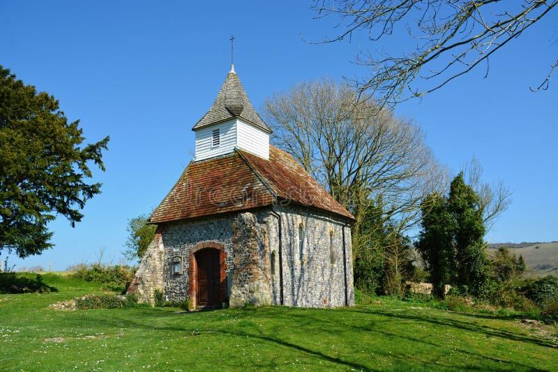 Lullington kościół, kościół Dobra baca, Sussex UK zdjęcia stock